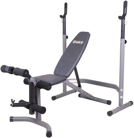 Photo Weight Bench w Leg Extension and Squat Rack - $150 (Moscow)