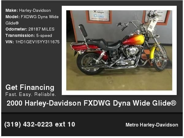 Photo 2000 Harley-Davidson FXDWG Dyna Wide Glide Dyna - $6,995 (Cedar Rapids, IA)