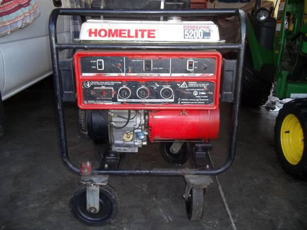 Photo Homelite 5200 Watt Generator Briggs  Stratton Engine - $150 (Geneseo, IL.)