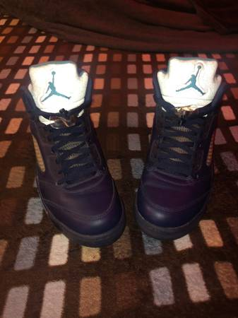 Photo Jordan retro 5 pre grapehornets size 12 - $125 (Silvis)