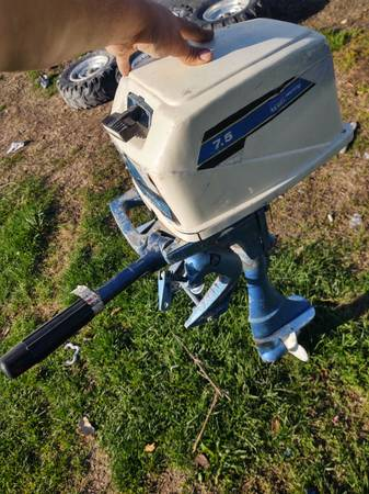 Photo Outboard Motor 7.5 hp - $200 (Blue Grass)