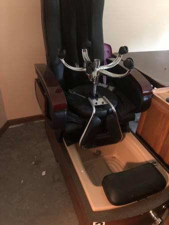 Photo Pedicure chair (Blue grass)
