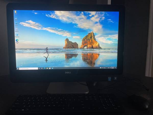 Photo Two Dell Optiplex AIO desktop PCs- 4 core - 3.1GHz, 8GB, 500GB 23quot - $250 (North Liberty)