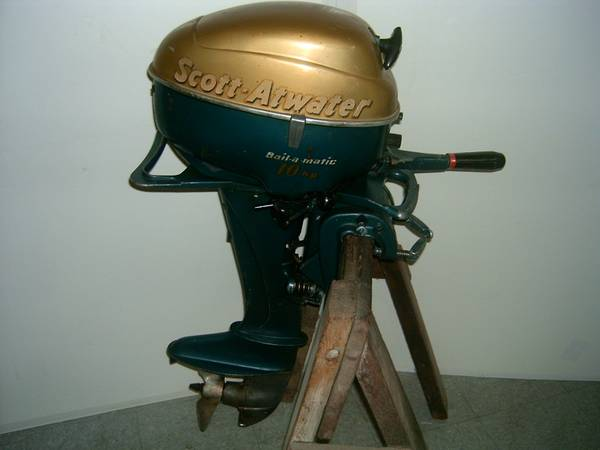 Photo VINTAGE 195039s SCOTT-ATWATER 10 HP OUTBOARD MOTOR. - $240 (IOWA  ILL QUAD CITIES)