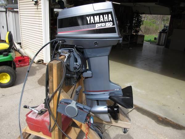 Photo Yamaha 50hp Outboard Boat Motor REBUILT elec start power tilt Controls - $2,950 (Rock Island IL Quad Cities.)