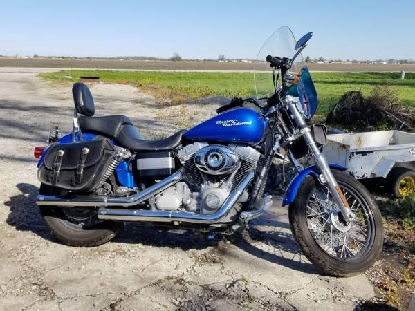 Photo 2007 Blue Harley Davidson Super Glide - $6,500 (Saint Charles)
