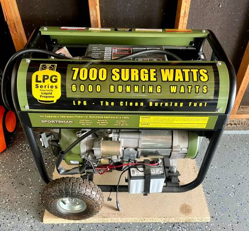 Photo 7kw Propane Gas Powered Electric Start Portable Generator - $600 (Chesterfield)