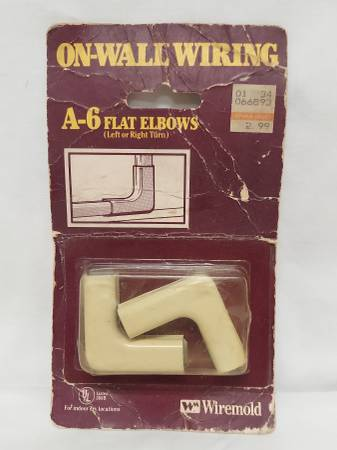 Photo 90 degree On-Wall Wiring Conduit A-6 Elbows by Wiremold - $10 (St. Louis)