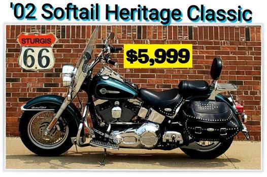 Photo 2002 Harley Davidson Softail Heritage Classic FLSTCi  - $5,999 (O39fallon, MO)