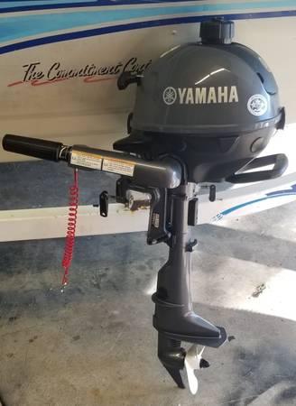 Photo 2018 Yamaha 2.5hp 4 stroke outboard motor trolling motor - $650 (LINDENHURST)