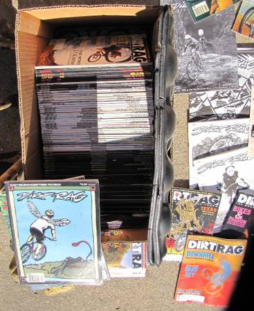 Photo Dirt Rag Magazines 15  years over 100 issues TRADES WELCOME - $1 (kenosha)