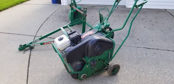 Photo Ryan Lawn aerator with trailer - $1500 (Mount Pleasant)