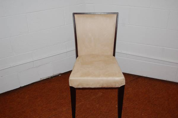 Photo Tan suede black chair - $25 (3127 Roosevelt Rd)