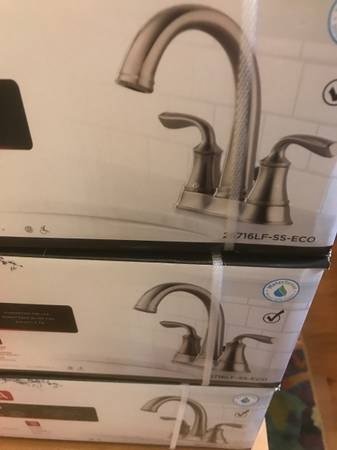 Photo 12 available Delta bathroom faucets - Lorain brushed nickel - $65 (Nw Raleigh)