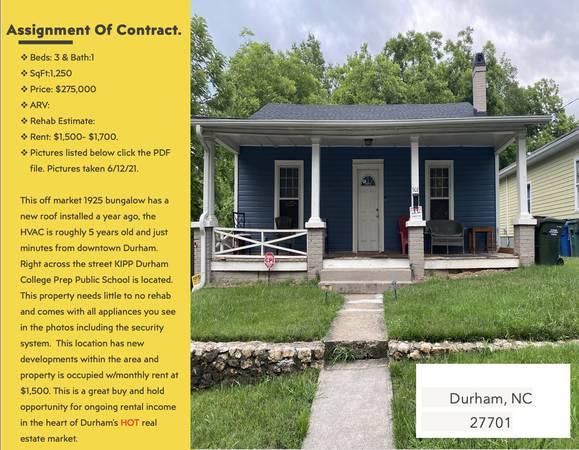 Photo Cash Buyer Buy  Hold rental investment (Durham, NC)