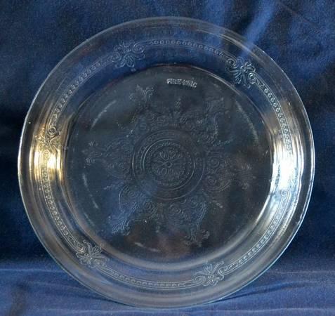 Photo Fire King Molded Glass Embossed Pie Plate - $7 (Garner)