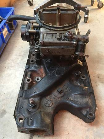 Photo Ford 302 2v Marine Intake and Holley Carb - $100 (Rolesville, NC)