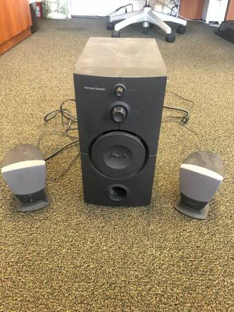 Photo Harmon-Kardon HK395 3-piece computer speakers - $65 (N. RaleighWake Forest)