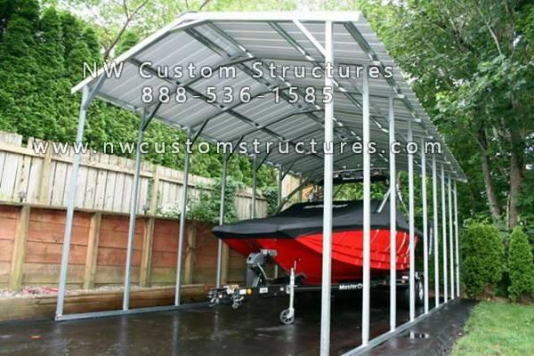 Photo Metal Boat Covers, Garages and Carports - $1,415 (and up North Carolina)