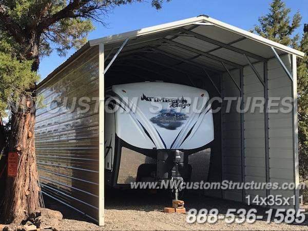Photo Metal RV Covers, Carports and Garages - $1,415 (and up North Carolina)