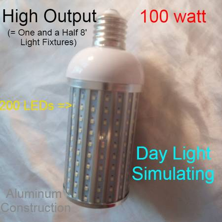 Photo NEW HIGH OUTPUT LOW COST SHOP LIGHTS STRINGS. SCREW-IN, or HARDWIRE - $22 (Raleigh or will ship)