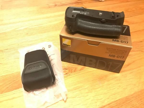 Photo NIKON MB-D17 MULTI-POWER BATTERY PACK FOR D500 DIGITAL SLR CAMERAS - $90 (Raleigh)