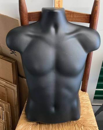 Photo Plastic half shell mannequins male and female in black - $3 (Raleigh area)