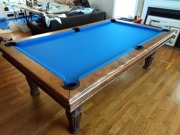 Photo Pool Table Moving, Recovering and Repair (Raleigh)