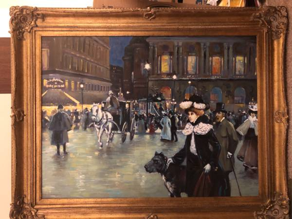 Photo Victorian style Oil Painting (Framed) - $150 (Wake Forest, NC)