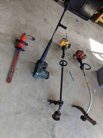 Photo Yard Equipment Package (weed eater, electric trimmer, etc) - $40 (Garner 4042)
