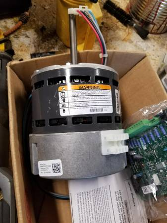 Photo goodman air handler control board,chip and blower motor - $300 (newportralcary)