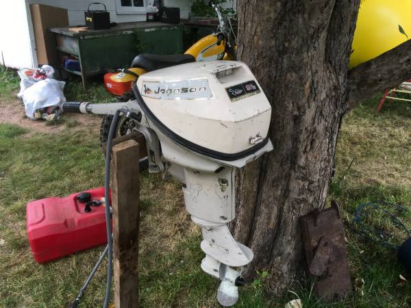 Photo 1965 Johnson 9.5 HP outboard motor - $500 (Hot Springs)