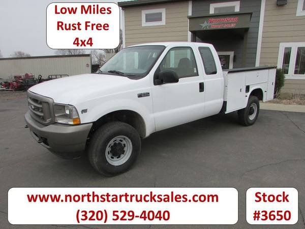 Photo 2002 Ford F250 4x4 Ext-Cab Service Utility Truck - $15900 (Ford F-250 4x4 Ext-Cab Service Utility Truck)