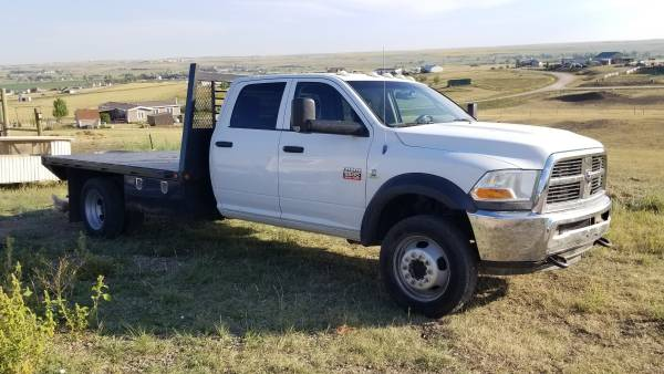 Photo 2012 Dodge Ram 5500 HD 4WD Crew Cab, Flat Bed - $25,900 (Rapid City)