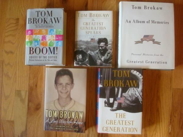 Photo 5 SD native Tom Brokaw books, hardcover, WWII  6039s. - $10 (Rapid City)