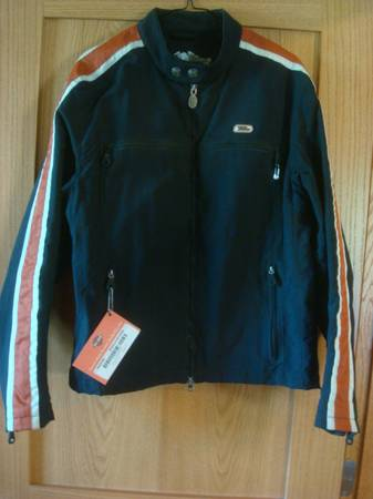 Photo Harley Davidson nylon lined jacket, Mens Med, 6 zipper pockets - $50 (Rapid City)