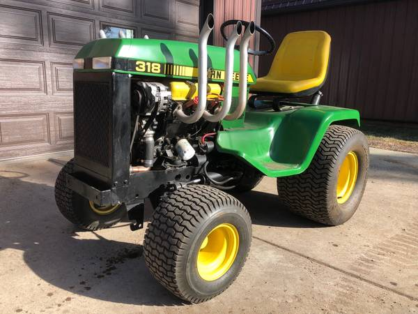Photo John Deere 318 Lawn Tractor Custom Built wV6 Engine - $5950 (Keystone)
