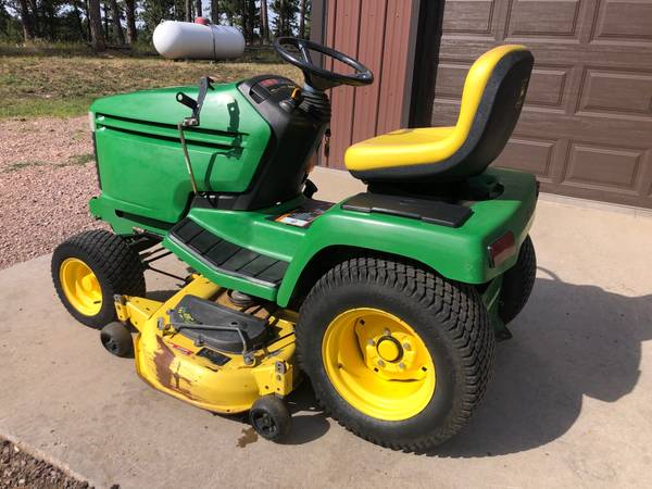 Photo John Deere 345 Lawn Tractor wMower  Snowthrower - $2,350 (Rapid City)