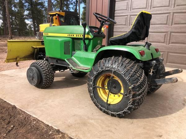 Photo John Deere 400 Lawn Tractor w JD Hydraulic 54quot Blade - $2,750 (Rapid City)