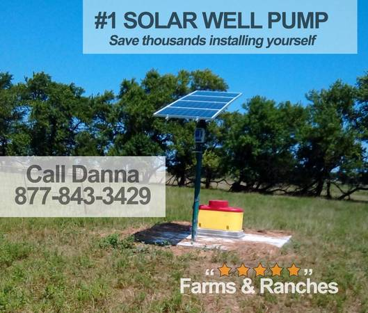 Photo Live the Fantasy with Watering BigFlow 3 diameter Solar well Pump - $1,550 (rapid city)