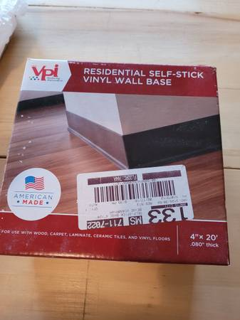 Photo Residential self stick vinyl wall base - $10 (black hawk)