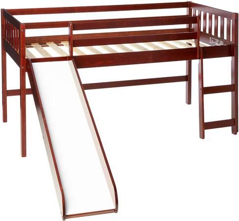 Photo Twin loft bed with slide  mattress - $145 (Rapid City)