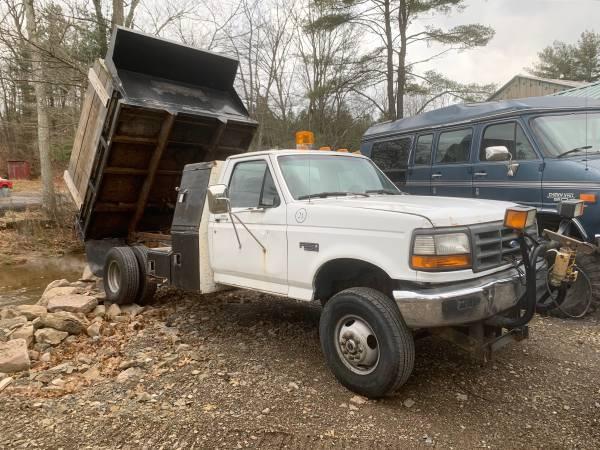Photo 1997 f350 4x4 dump plow truck - $2750 (Schuylkill haven pa)