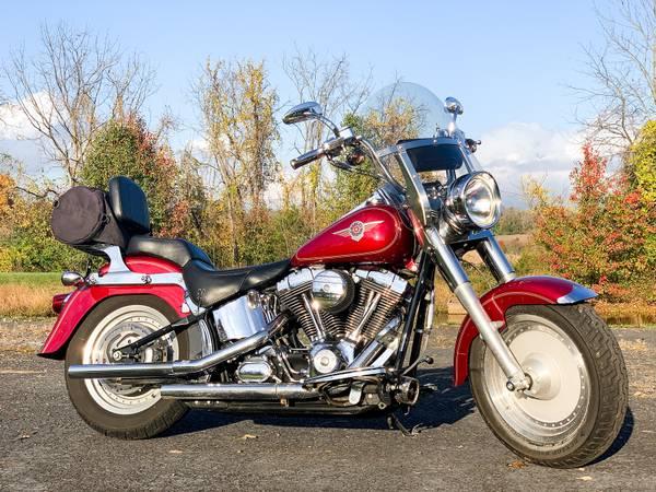 Photo 2004 Harley-Davidson Softail Fatboy FLSTFI w Performance Extras - $7,295 (Zieglerville)