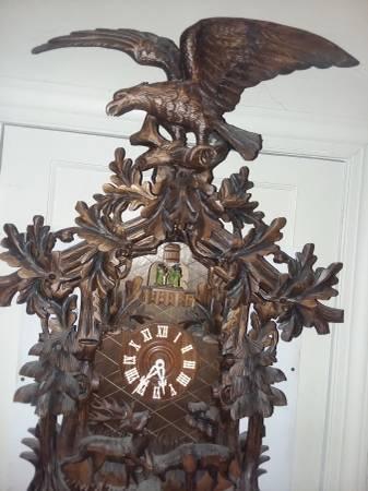 Photo 4 ft tall antique cuckoo clock - $4,250 (Manassas city va.)