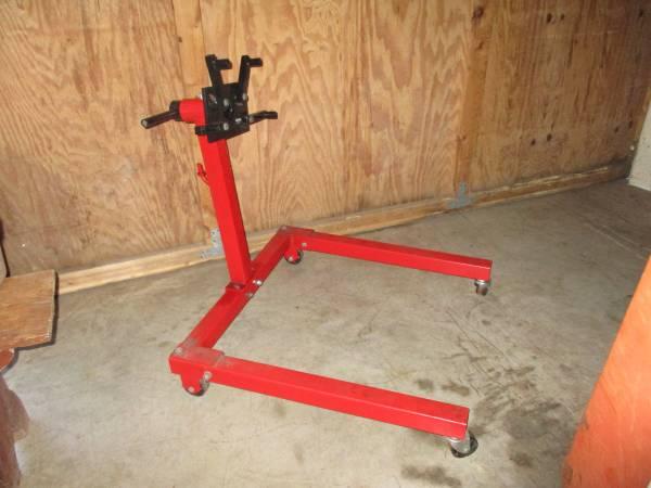 Photo 750 lb engine motor stand sbf sbc pontiac 289 302 351 327 350 400 v-8 - $50 (birdsboro,pa)