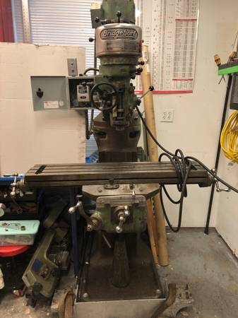 Photo Bridgeport Milling Machine with VFD, DRO and Tooling - $3,500 (Collegeville)