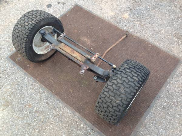 Photo Craftsman GT Garden Tractor Front Axle, Wheels and Mounts - $30 (Bowmansville)