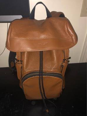 Photo F72311 Coach Henry Leather Pebble Mens Backpack - $250 (Reading)