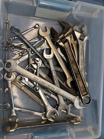 Photo Large number of 1960s USA wrenches  mostly Craftsman - $30 (Reiffton near Arbys  422 Gibralter Road 19606)